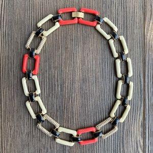 J. Crew Chain Link Rhinestone Necklace